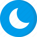 forecast, moon, night, weather icon