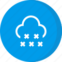 cloud, cold, forecast, snow, weather icon