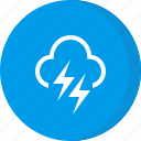 cloud, forecast, heavy, lightning, weather icon