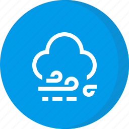 cloud, forecast, weather, wind, windy icon