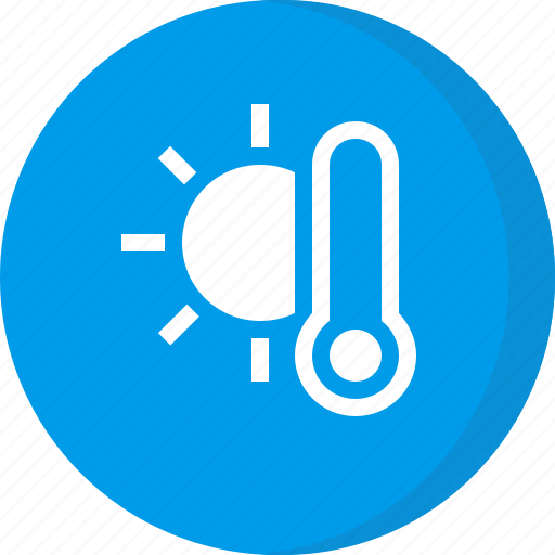 cloudy, forecast, temperature, thermometer, weather icon