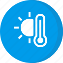 weather, forecast, hot, sunny, temperature, thermometer
