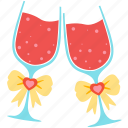 favourite, goblet, love, romantic, valentine, wedding, wine icon