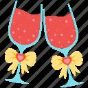 wedding, favourite, goblet, love, valentine, romantic, wine icon