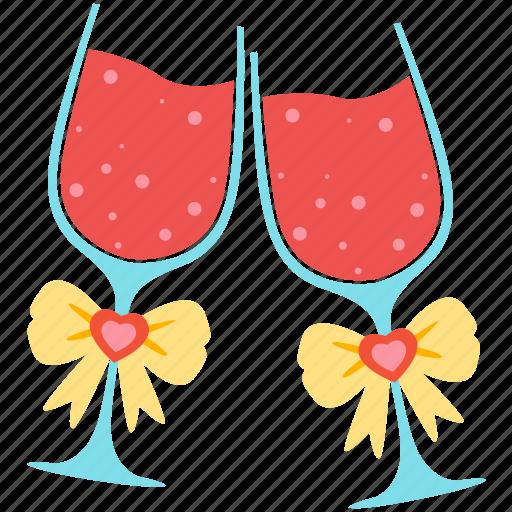 favourite, goblet, love, romantic, valentine, wedding, wine icon