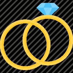diamond, healthcare, heart, valentine, wedding, wedding ring icon