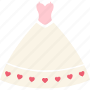 bride, day, dress, love, romantic, wedding, wedding dress icon