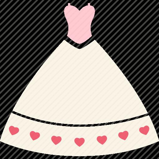 bride, day, dress, love, romantic, wedding, wedding dress icon