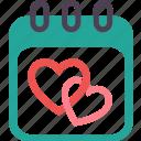 wedding, calendar, day, event, month, ring, valentine icon
