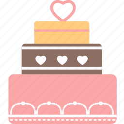 cake, gato, heart, romantic, valentine, vegetable, wedding icon