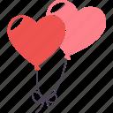 wedding, balloon, day, romantic, schedule, valentine, heart icon