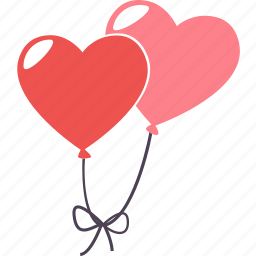 balloon, day, heart, romantic, schedule, valentine, wedding icon