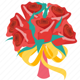 decoration, flower, happy, ring, rose, valentine, wedding icon