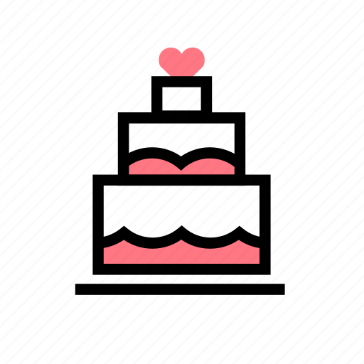 cake, celebration, dessert, wedding icon