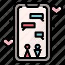 app, conversation, dating, invitation, love, wedding