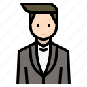 avatar, gentleman, groom, love, man, wedding