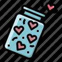 heart, hearts, jar, love, of, spread, valentine