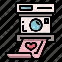 camera, love, photo, picture, polaroid, wedding icon