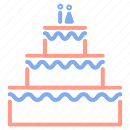 cake, dessert, marriage, married, wedding, wedding cake icon