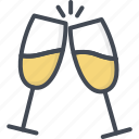 celebration, champagne, glass, married, party, wedding icon