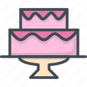 cake, celebration, married, party, wedding icon