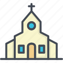 building, celebration, church, married, party, wedding icon