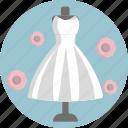 gown, white, dress, wedding, bride icon