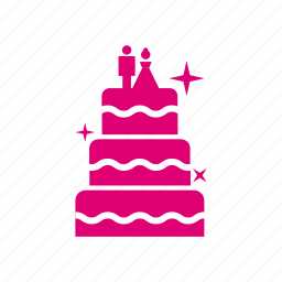 cake, couple, wedding icon