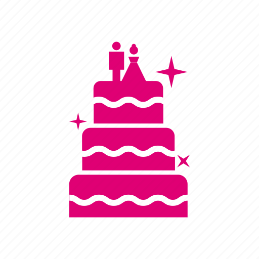 cake, couple, wedding icon