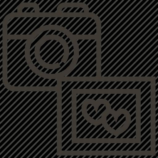 camera, hearts, love, photo, photography icon