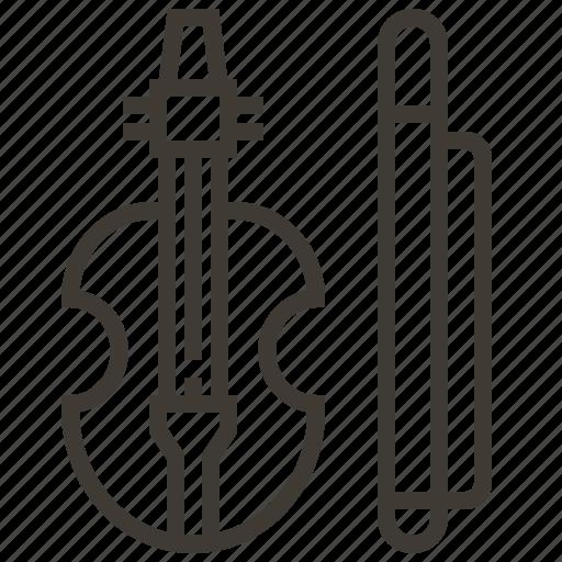 instrument, music, musical, violin icon