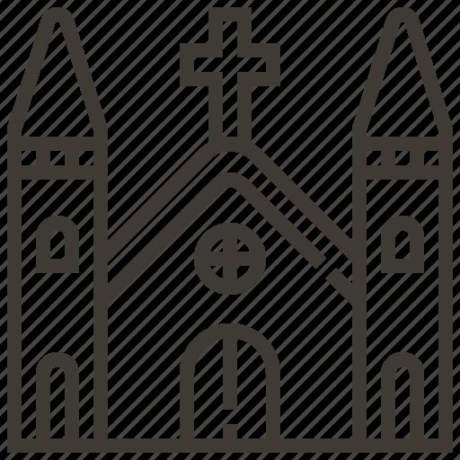 building, church, religion, wedding icon