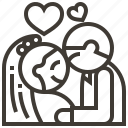 couple, hearts, love, wedding icon