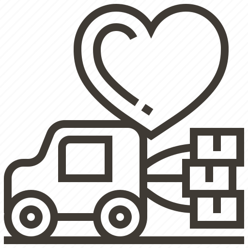 Wedding, delivery, heart, love, valentine, vehicle icon - Download on Iconfinder
