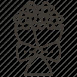 bouquet, flowers, valentine icon