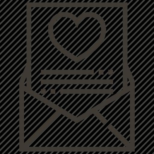 heart, letter, love, love letter, valentine icon