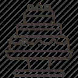 cake, dessert, wedding, wedding cake icon