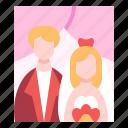 wedding, portrait, photos, frame, couple
