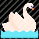 animal, bird, swan, wild icon