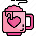 chocolate, love, romance, food, restaurant, valentines, tea, cup, coffee