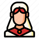 avatar, bride, girl, wedding, woman icon