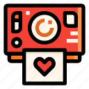 camera, heart, love, photo, polaroid, wedding icon