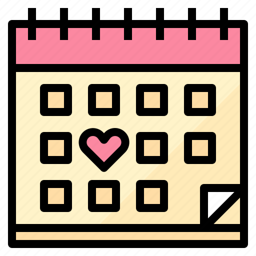 calendar, love, married, wedding icon