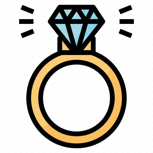 diamond, engagement, jewelry, rings icon