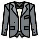 fashion, formal, groom, suit, wear, wedding icon