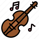 violin, music, orchestra, wedding icon