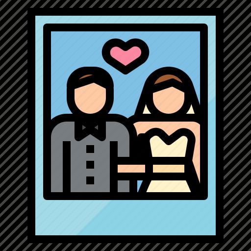 love, married, photo, wedding icon
