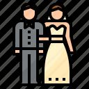 bride, groom, love, married, wedding