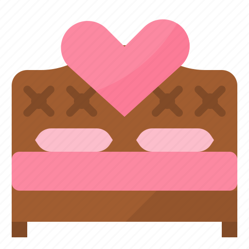 bed, love, married, wedding icon