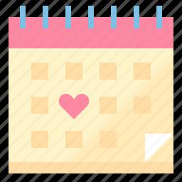 calendar, love, married, wedding icon